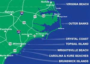 carolina coastal map best carolina beaches travel destinations