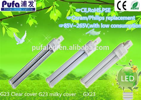 uv c l g23 9w ce rohs 5w 9w 12w uv l g23 led pl light bulb g24 g23