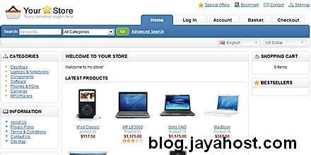 template toko online opencart membuat toko online dengan opencart blog jayahost