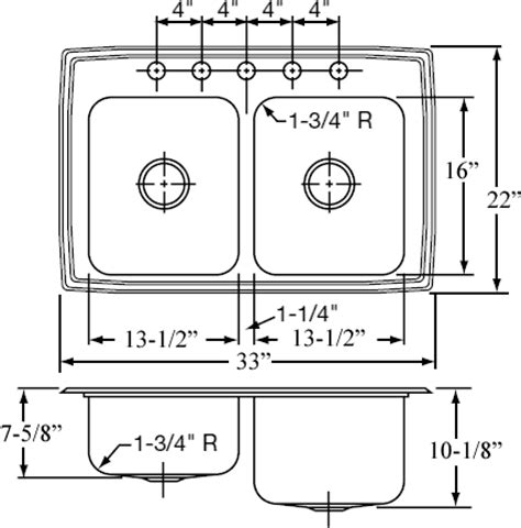 Kitchen Sink Specifications Sink Size Befon For