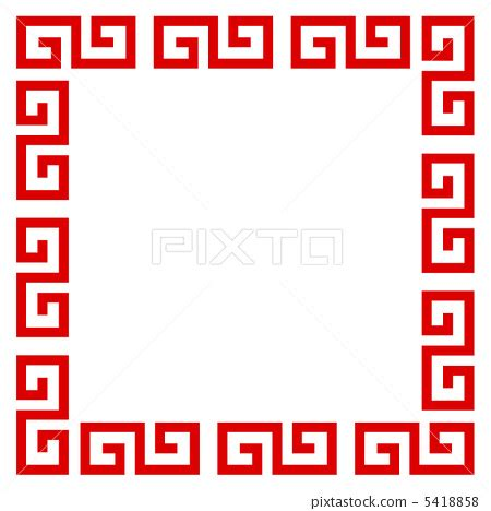 chinese pattern frame vector chinese pattern pattern frame stock illustration