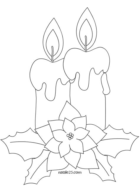 candela di natale da colorare candele di natale da colorare natale 25