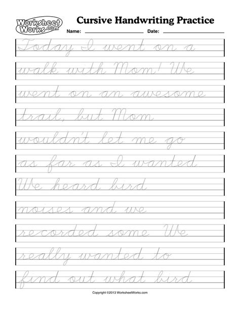 printable worksheets cursive writing cursive handwriting worksheets cursive writing worksheet