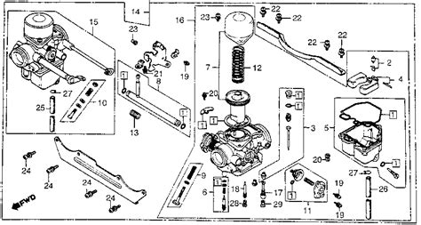 honda foreman carburetor diagram filter for honda foreman 400 free engine image