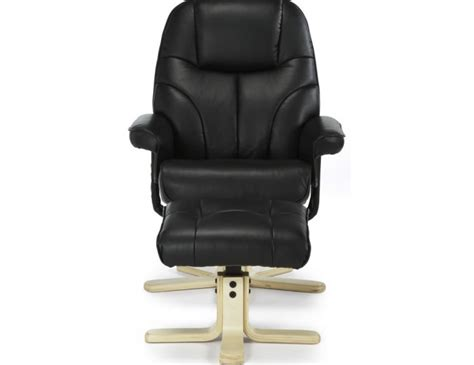 black faux leather recliner rosenberg black faux leather recliner chair and stool