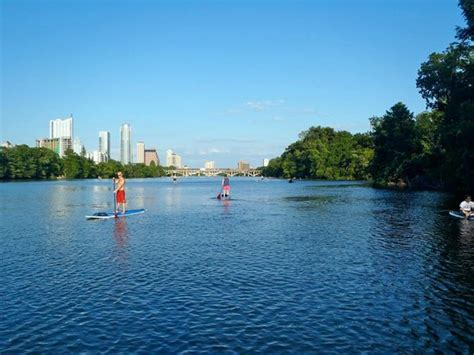 paddle boat rental in austin awesome skyline view from the water picture of texas