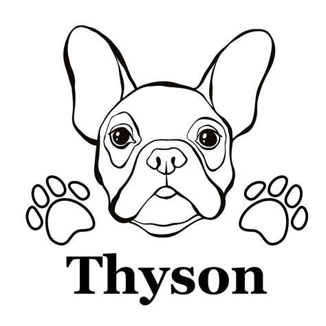 Autoaufkleber Französische Bulldogge Mit Namen by Franz 246 Sische Bulldogge Autoaufkleber Mit Wunschname
