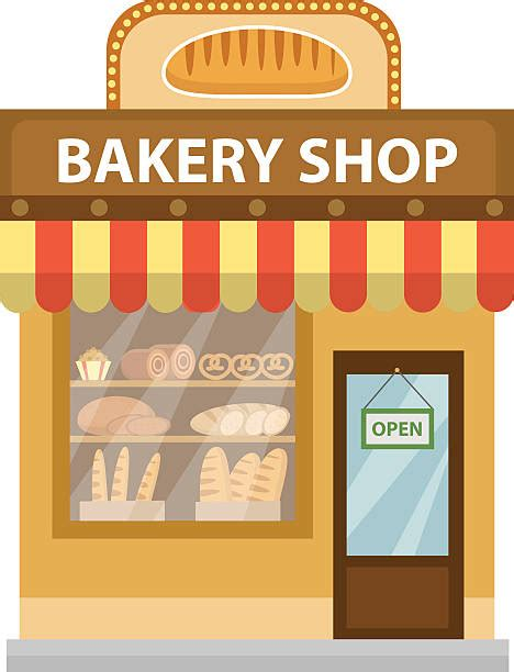 Awning Window Design Bread Clipart Bakery Window Pencil And In Color Bread