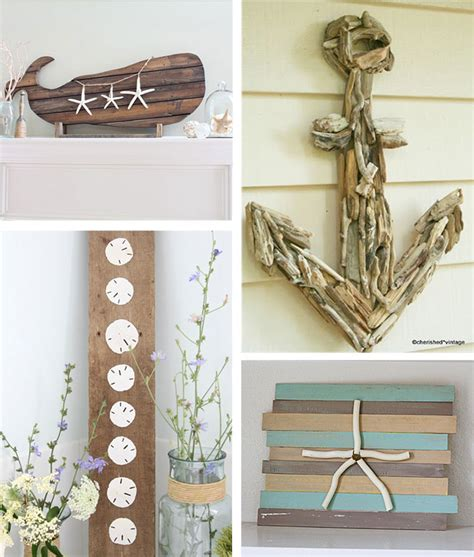 Ideas For Decorating Bathroom by 29 Beach Crafts Coastal Diy Wall Art
