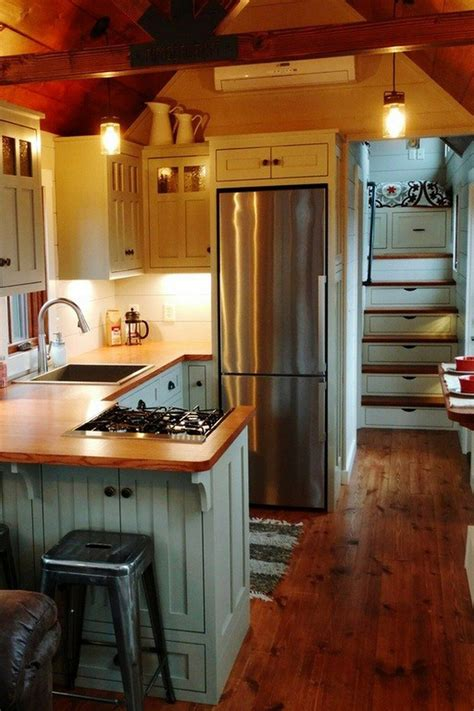 open concept rustic modern tiny house   photo