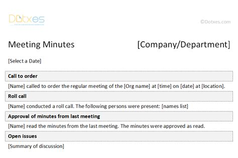 Activities Examples For Resumes by Minutes Of Meeting Formal Template Dotxes