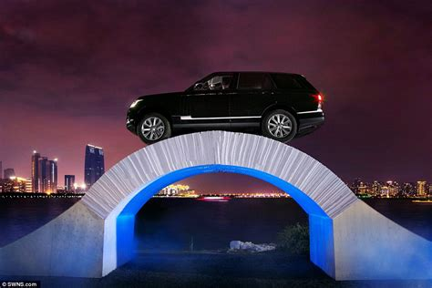 How To Make An Origami Bridge - moment a range rover drives a bridge made of paper