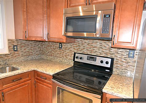 brown glass tile santa cecilia countertop