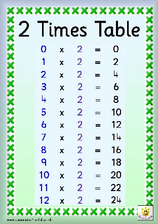 2 Times Tables by Timestables