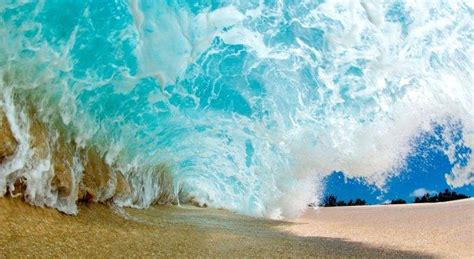 gopro background nature photography landscape waves sea sand tunnel