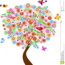 illustration d arbre de fleur d 233 t 233 avec des oiseaux et