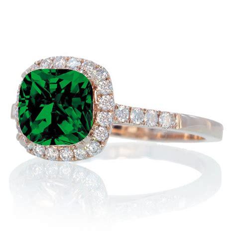 1 5 carat cushion emerald and engagement