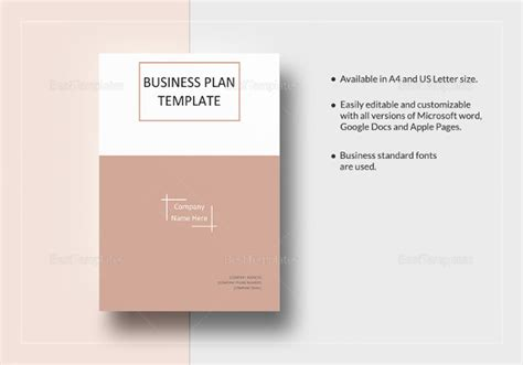 templates for business plans business plan templates 33 examples