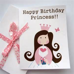 princess card a happy birthday princess birthday card a54 mariapalito cards on artfire