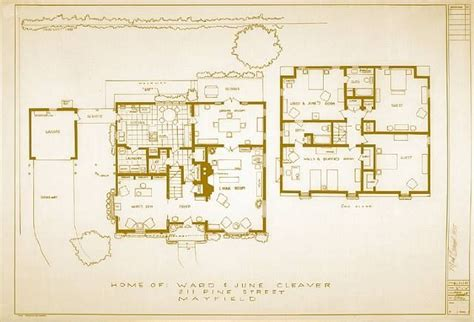 floor plan for the home of june and ward cleaver