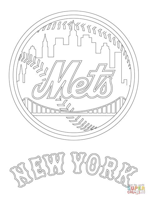 new templates for pages new york mets coloring pages coloring pages