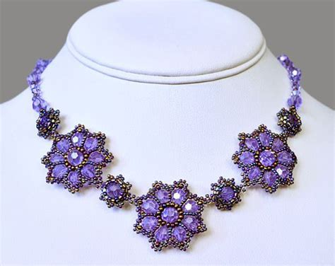 flower necklace pattern pretty diagram tutorial free bead patterns necklaces and