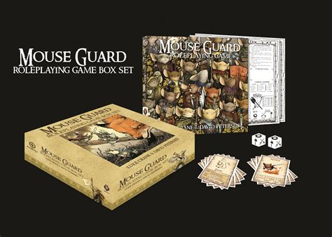mouse guard roleplaying box set 2nd ed press release run of mouse guard rpg sold out