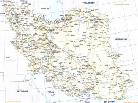iran road map mapsofnet
