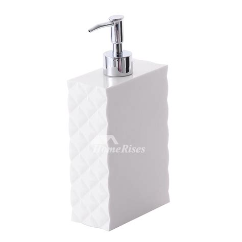 soap dispensers for bathrooms simple modern white plastic bathroom liquid soap dispenser
