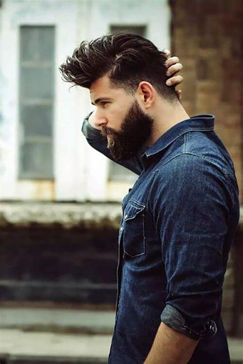 Beard And Hairstyles by Choosing The Hairstyle And Beard Combination