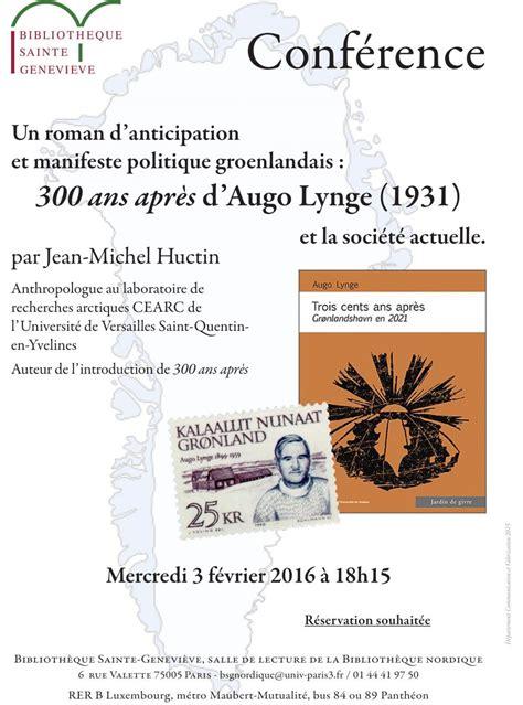 20 recits danticipation et 300 ans apr 232 s d augo lynge un roman d anticipation et manifeste politique groenlandais cearc
