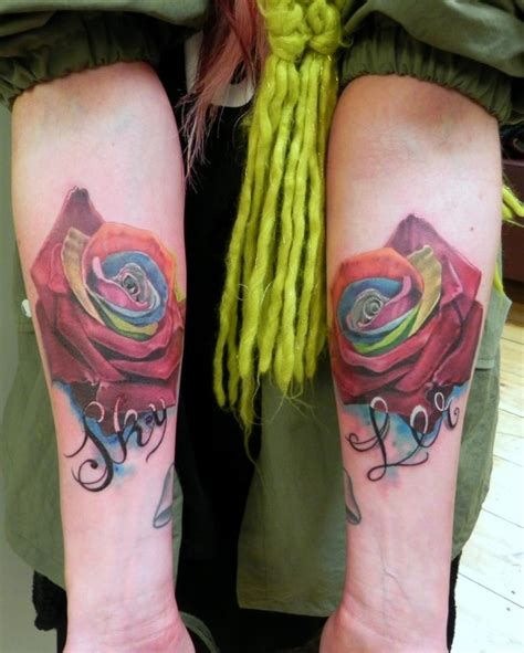 shamrock and rose tattoo 129 best tattoos images on