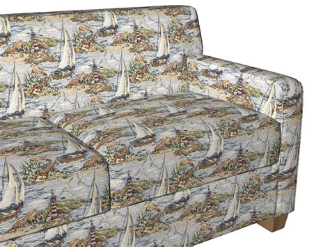 Themed Fabric Upholstery by A005 Sailboats And Lighthouses Themed Tapestry Upholstery