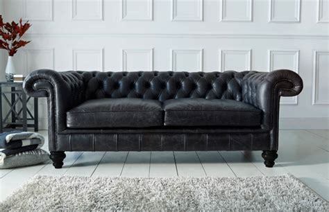 chesterfield sofa dark paxton black leather chesterfield chesterfield company