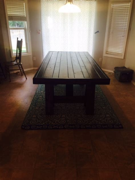 pottery barn inspired dining table ana white