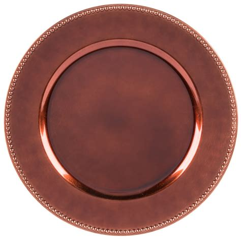 beaded plate chargers import 1270172 copper beaded 13 quot melamine
