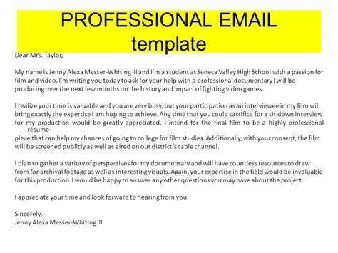 professional emails templates professional ppt
