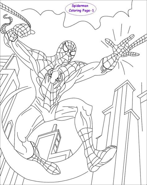 coloring pages spiderman pdf spiderman coloring page for kids 1