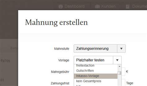 Mahnung Für Mehrere Rechnungen Muster 5 Neue Fastbill Features F 252 R Mehr Usability