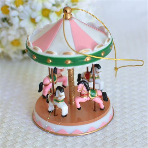 Pink Circus Carousel Cake Topper For Baby S Ers