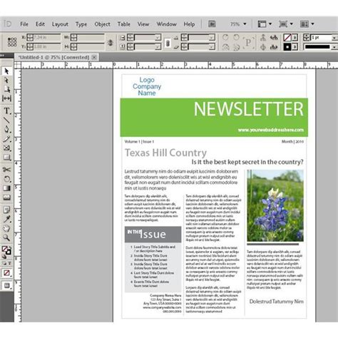 pin indesign newsletter templates free on pinterest