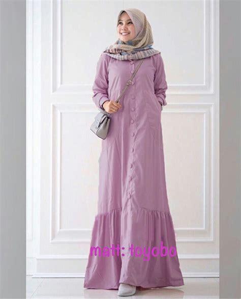 Busana Muslim Katun Toyobo Rayna Maxi   Gamis Modern