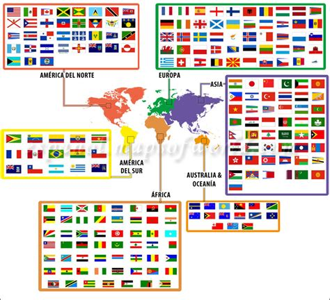 flags of the world countries printable with names banderas del mundo