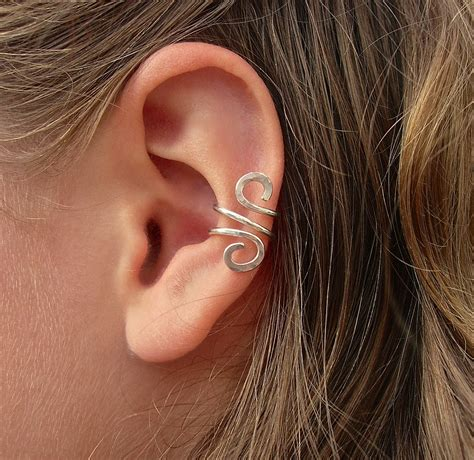 pics of ear cuffs hammered silver filled ear cuff on luulla