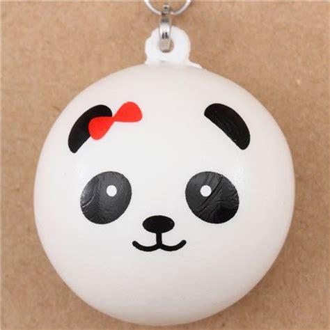 Panda Bun panda bun with bow squishy cellphone charm animal squishies squishies shop modes4u