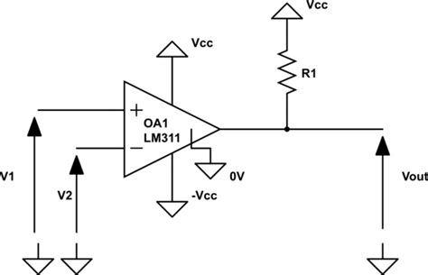 pull up resistor op output op of resistor at the output of a comparator electrical engineering stack exchange