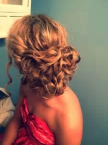 Curly hair updo formal prom hair via lexy kaminski