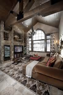 Mountain Home Interiors rustic design ideas canadian log homes