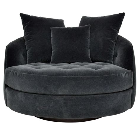 swivel cuddle chair milo baughman large swivel chair at 1stdibs