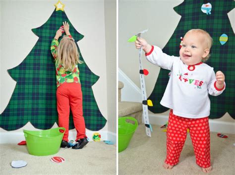 felt shingle tree diy christmas decorations kids will diy felt christmas tree project nursery